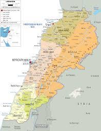 Asia Political Map Detailed Clear Large Map Of Lebanon Ezilon Maps