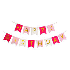 happy birthday ribbon keira prince happy birthday banner hot pink pastel