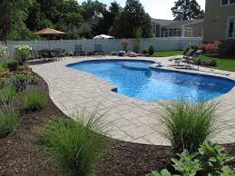pool patio pavers beyond poured concrete 4 unique pool patios stone and patio