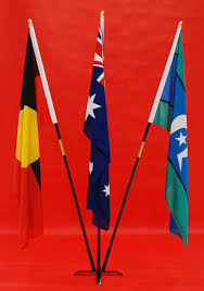 table top flag stands hire service
