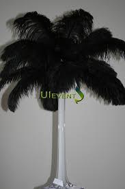 black ostrich plume feathers wedding centerpieces
