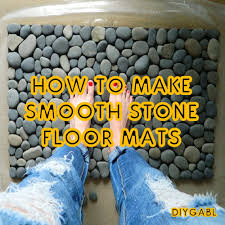 Pebble Stone Rug How To Make Smooth Stone Floor Mats Youtube
