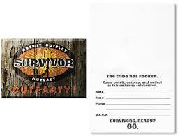 survivor party invitations 8 sale