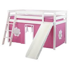 Curtains For Bunk Bed Maxwood Furniture Jackpot Twin Low Loft Bed With Angled Ladder