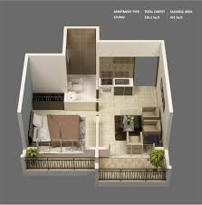 3d Home Layout by 1 Bedroom Apartment House Plans