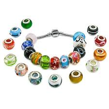 pandora style bead necklace images Beautylife 50pcs silver lampwork murano glass beads to fit pandora jpg