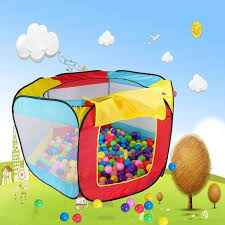 kids childrens play tent ball pool toy play house hut beach lawn