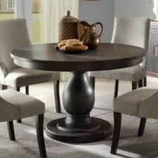 Wooden Round Dining Table Designs Espresso Round Pedestal Dining Table Starrkingschool