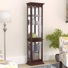 small curio cabinet with glass doors small curio cabinet wayfair