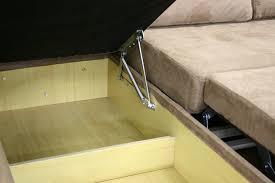 linden tan microfiber convertible sectional sofa bed lfc