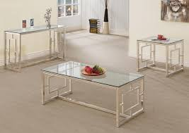 Glass Top Coffee Tables And End Tables Contemporary Glass And Metal End Tables Best Table Decoration