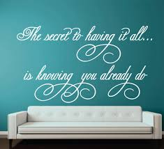 Family Wall Decal Romantic Love Decal The Secret To Having It - Family room wall quotes