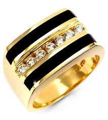 gold mens rings images 14k yellow gold mens round diamond black onyx band ring men 39 s jpg