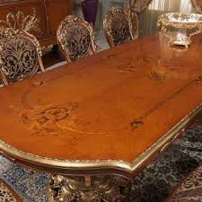 inlaid dining table and chairs carved and inlaid table in louis xvi style vimercati classic furniture