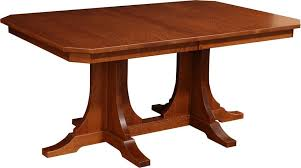 Two Pedestal Dining Table Amish Copper Canyon Mission Double Pedestal Dining Room Table