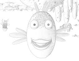 the pout and fish coloring page omeletta me