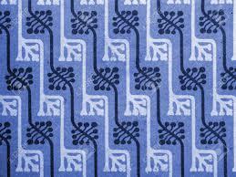 Papier Peint Art Nouveau Vintage Papier Peint En Bleu Le Motif Floral Avec Des Bourgeons