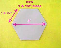 100 flexible plastic quilting hexagon templates reusable