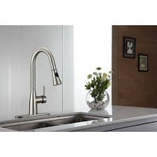 kraus kitchen faucets kraus pull kitchen faucet with soap dispenser sam s club