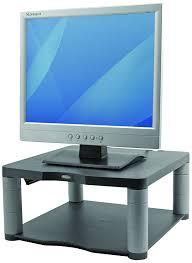 fellowes premium adjustable monitor riser graphite amazon co uk