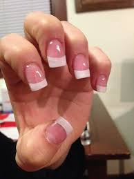pink and white acrylic nails double team dynamicpunch pink
