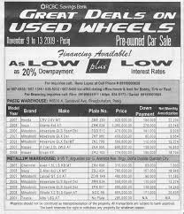 rcbc savings bank great deals on used wheels pre owned car sale on