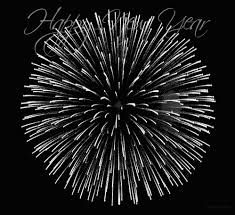 happy new year moving cards black and white fireworks happy new year new years new years