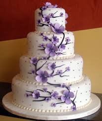 Wedding Cake Flowers Download Purple Wedding Cake Decorations Wedding Corners