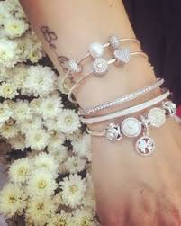 pandora bead charm necklace images We love the sparkle and floral details on these pandora bracelets jpg
