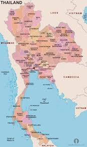 Map Of Thailand Thailand Provinces Map Provinces Map Of Thailand Thailand