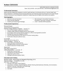 Personal Resume Template Personal Trainer Resume Template Personal Trainer Resume Best