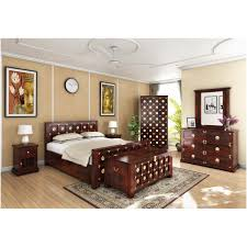 Brass Bedroom Furniture by Solid Wood U0026 Brass 7pc Bedroom Furniture Set