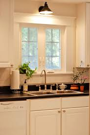 fabulous kitchen sink curtains with large window treatments