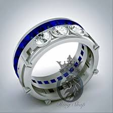 r2d2 wedding ring r2d2 droid inspired 3 25 cts swarovski diamond and sapphire men s