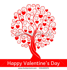 tree st valentines day stock vector 559480999