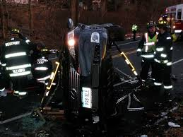 lexus of westport service department lexus rolls over on imperial avenue driver trapped westport news