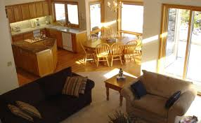 living room open kitchen layouts stunning open kitchen and