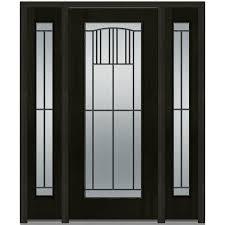 Oak Exterior Door by Mmi Door 36 In X 80 In Madison Left Hand Full Lite Classic