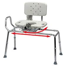 Bathroom Transfer Bench N Save Sliding Transfer Bench With Cut Out Swivel Seat