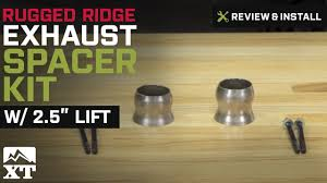 jeep wrangler rugged ridge exhaust spacer kit w 2 5