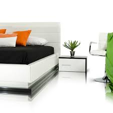 Black Bedroom Sets Queen Modrest Infinity Contemporary White Black Bedroom Set Queen
