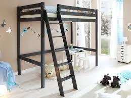 hochbetten für jugendzimmer ticaa hochbett matthias mit schrägleiter grau kinder