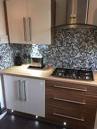 full kitchen for sale modern white and wood effect high gloss