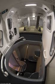 inside the crew rest compartments where flight attendants and