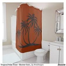 Palm Tree Bathroom Accessories by Magical Palms Shower Curtain Palm