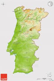 Topographic Map Of Europe by Physical 3d Map Of Portugal Cropped Outside