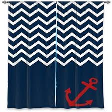 Red Blue Curtains Unique Window Curtains Organic Saturation Anchor Nautical