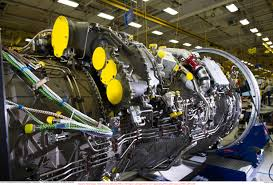 f135 engine on assembly line jpg