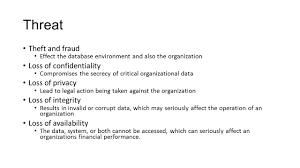 Operation Organization by Database Security Threats Database An Essential Corporate