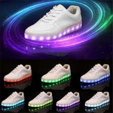 light up shoes that change colors usb charging color change led shoes for adults push button switch